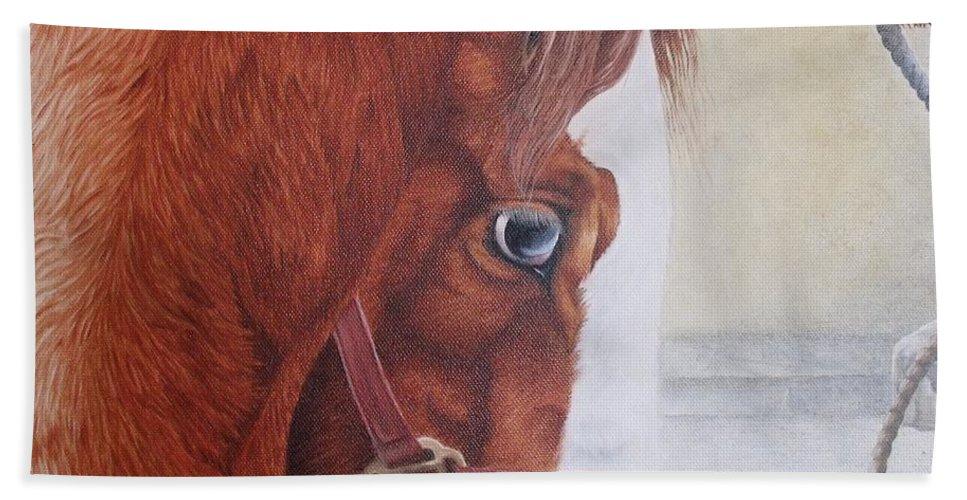 Horse Beach Towel featuring the painting Peeping Paint Glin Fair by Pauline Sharp