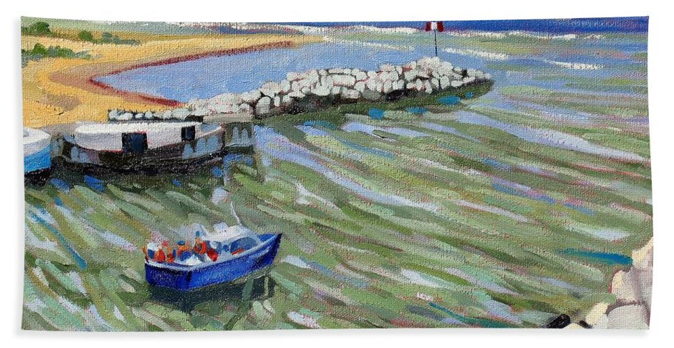 909 Beach Towel featuring the painting Peerlessly Outbound by Phil Chadwick