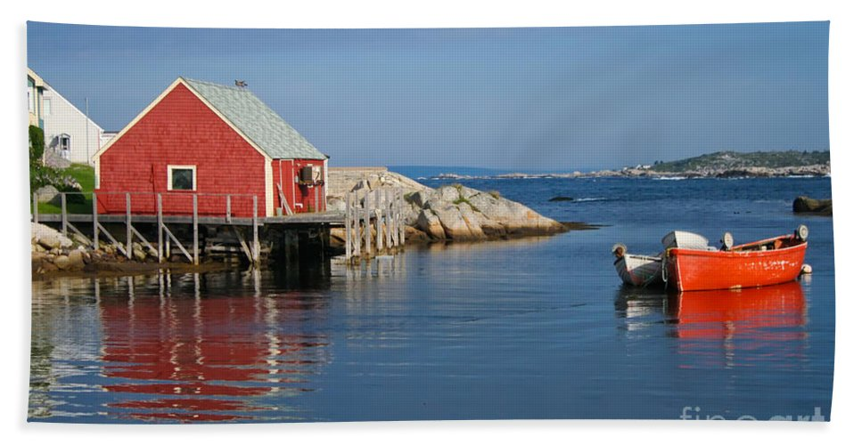 Peggy's Cove Beach Towel featuring the photograph Peggys Cove by Thomas Marchessault