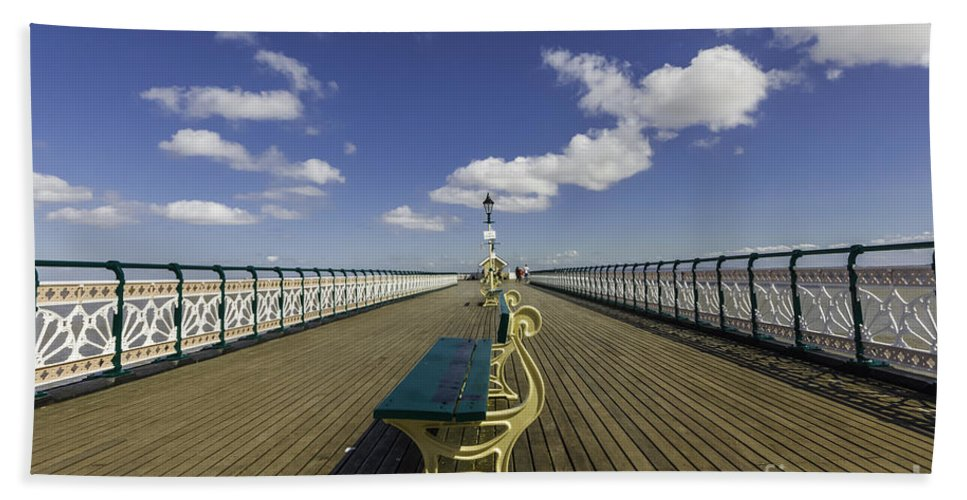 Penarth Pier Beach Towel featuring the photograph Penarth Pier 8 by Steve Purnell