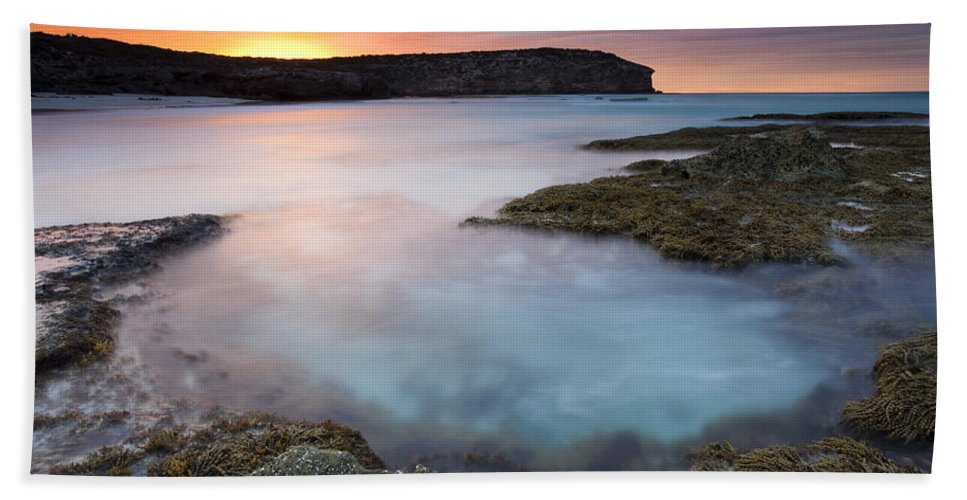 Dawn Beach Sheet featuring the photograph Pennington Dawn by Mike Dawson