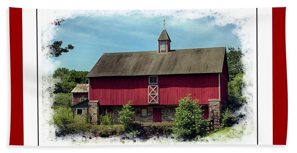 Pennsylvania Beach Towel featuring the photograph Pennsylvania Barn by Margie Wildblood