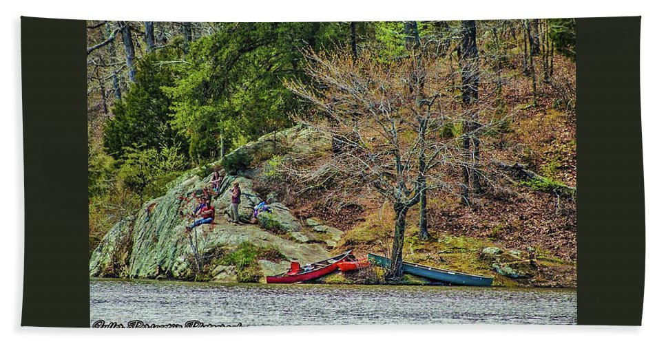 Water Beach Towel featuring the photograph Pennyrile Park Canoes by Chad Fuller