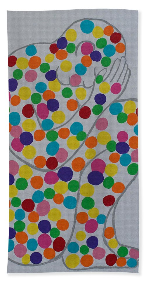 Awareness Beach Towel featuring the painting Perception by Sacha Hope