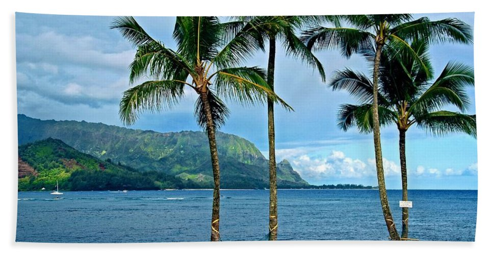 Tropical Landscapes Beach Towel featuring the photograph Perfect Hang Out by Lynn Bauer