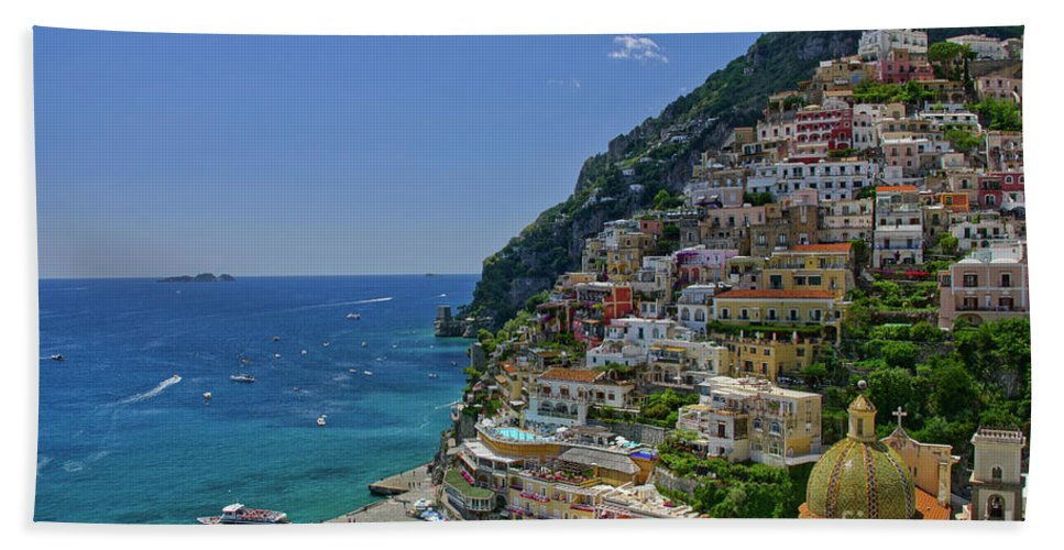Positano Beach Towel featuring the photograph Perfect Positano by Brian Kamprath