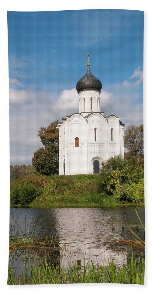 Church Beach Towel featuring the photograph Perfect Temple by Sergei Dolgov