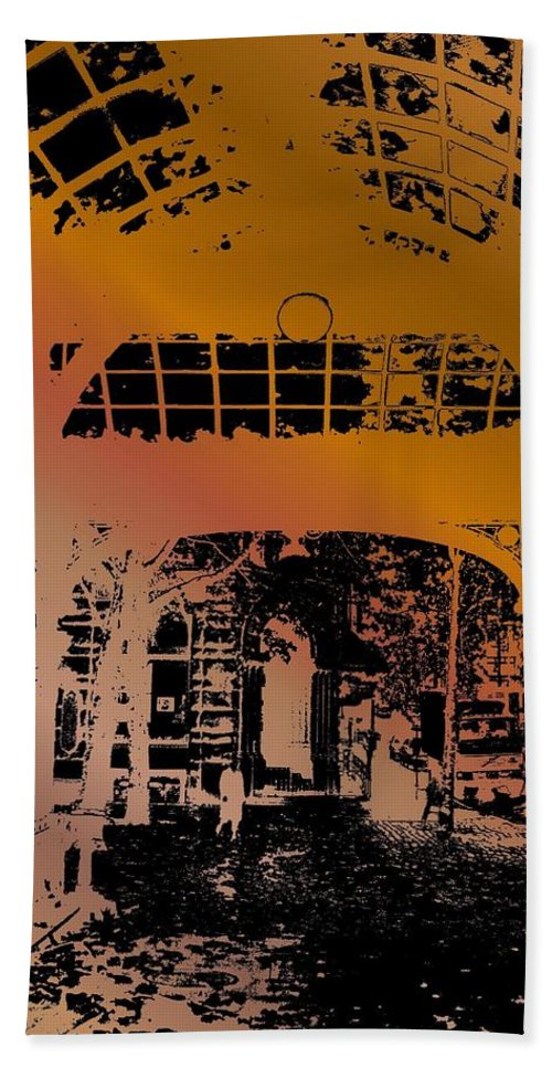 Seattle Beach Towel featuring the photograph Pergola 2 by Tim Allen