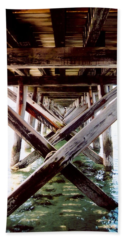 Dock Beach Towel featuring the photograph Perspective I by Greg Fortier
