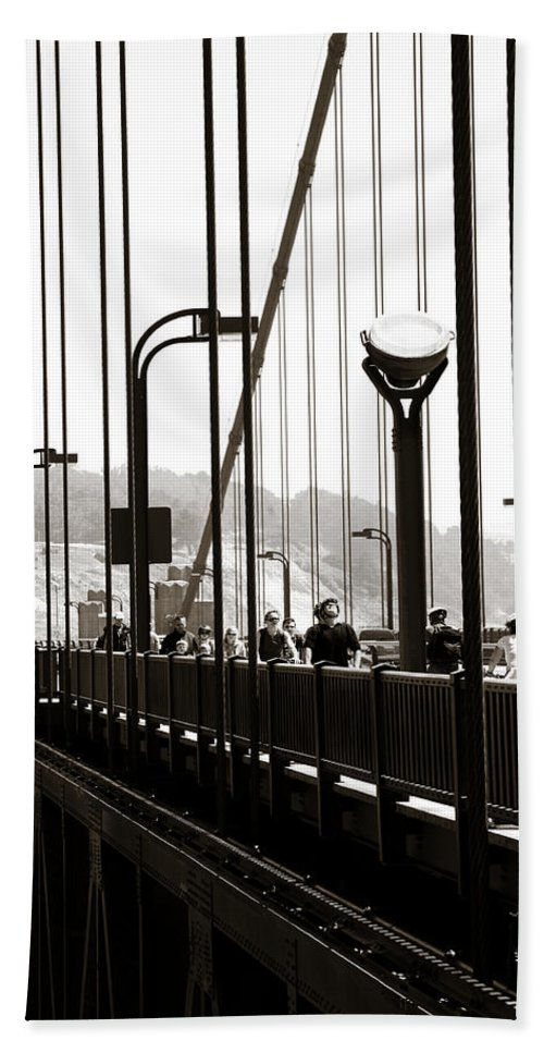 Americana Beach Towel featuring the photograph Perspective On The Golden Gate Bridge by Marilyn Hunt