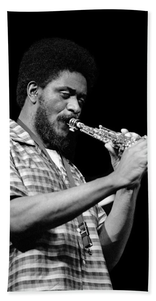 Pharoah Sanders Beach Towel featuring the photograph Pharoah Sanders 3 by Lee Santa