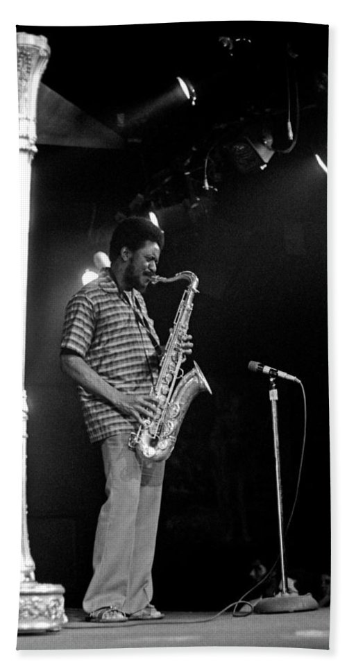 Pharoah Sanders Beach Sheet featuring the photograph Pharoah Sanders 5 by Lee Santa