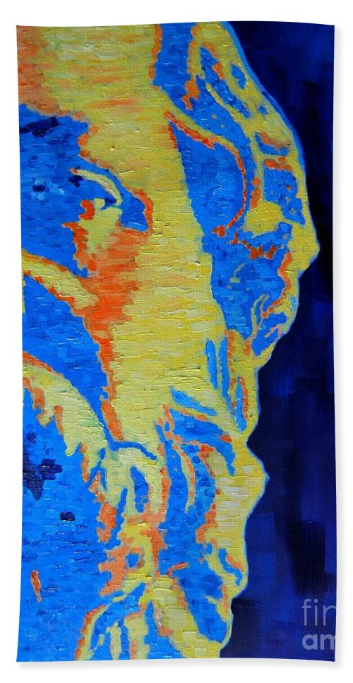 Socrates Beach Towel featuring the painting Philosopher - Socrates 3 by Ana Maria Edulescu