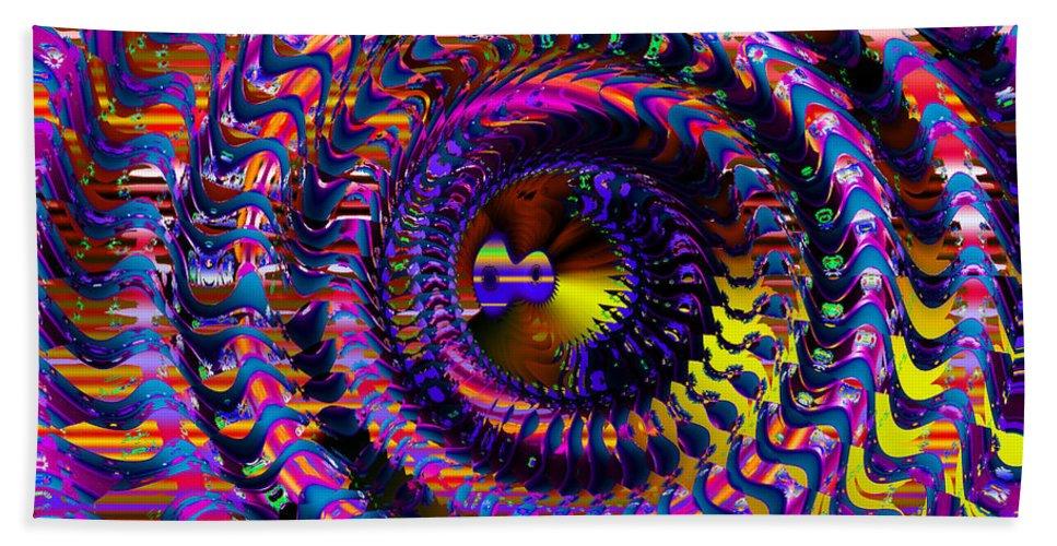 Colorful Beach Towel featuring the digital art Philosophical Rainbow by Robert Orinski