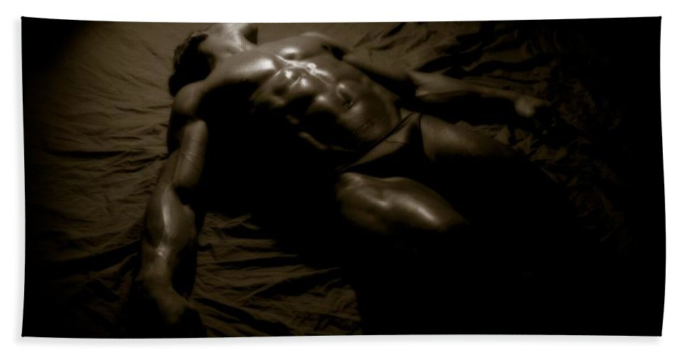 Muscle Beach Towel featuring the photograph Photo 27 by Marcin and Dawid Witukiewicz