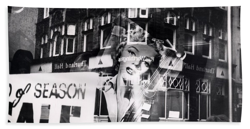 Marilyn Beach Towel featuring the photograph Photograph Of Marilyn by Charles Stuart