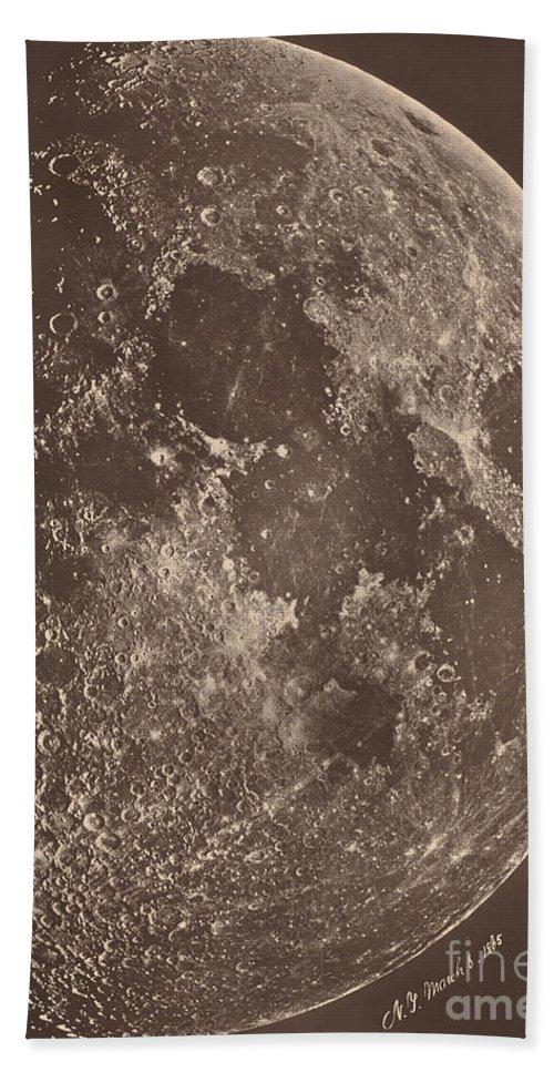 Beach Towel featuring the photograph Photographie De La Lune A Son 1er Quartier by Lewis Rutherford