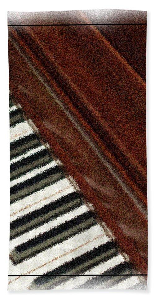 Piano Beach Towel featuring the photograph Piano Keys by Carolyn Marshall