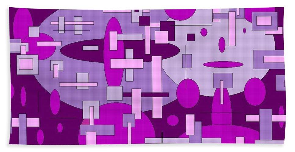 Digital Artwork Beach Towel featuring the digital art Piddly by Jordana Sands