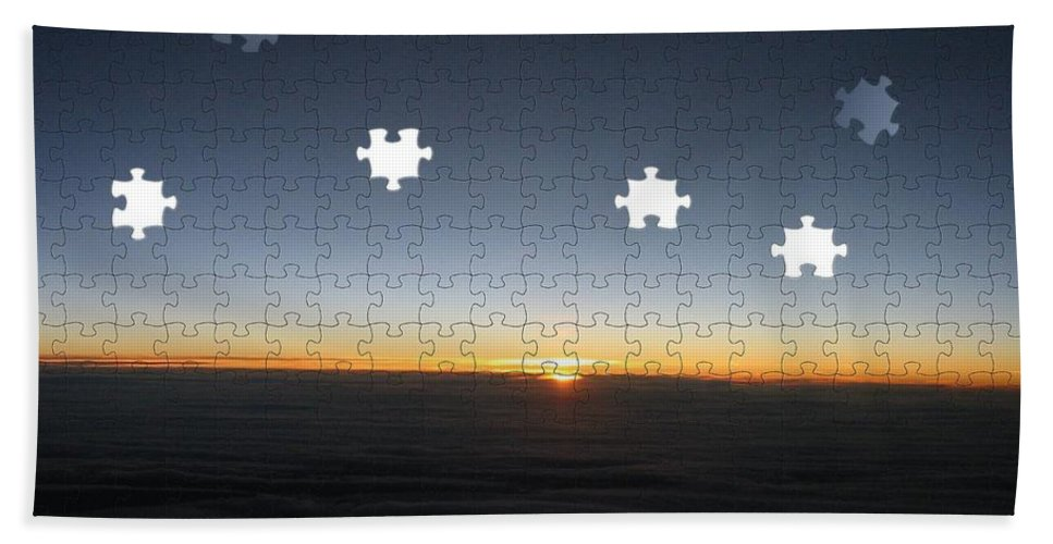 Sunrise Beach Towel featuring the photograph Piecing Together A New Day by Tim Allen