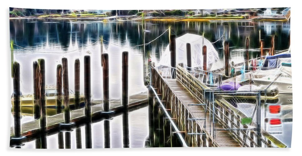 Pier Beach Towel featuring the photograph Pier Pressure by Tim Coleman