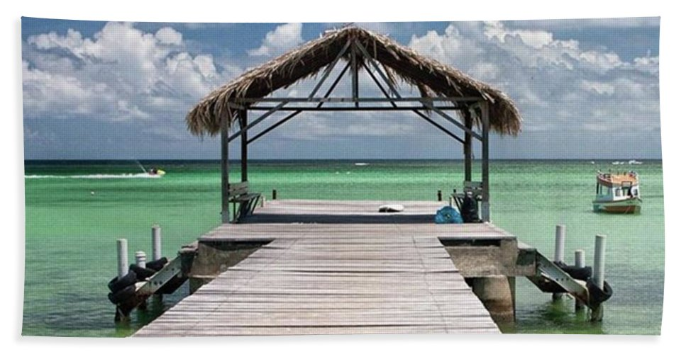 Beautiful Beach Towel featuring the photograph Pigeon Point, Tobago#pigeonpoint by John Edwards