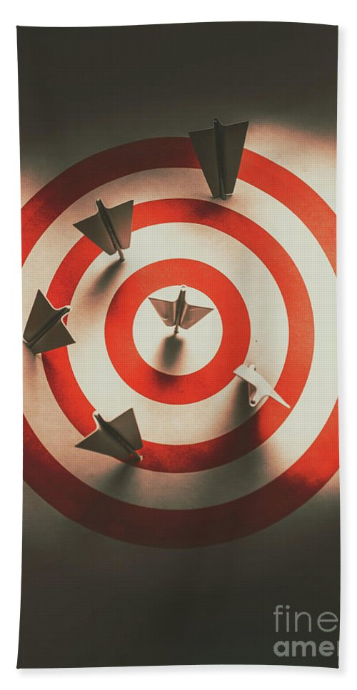 Paper Beach Towel featuring the photograph Pin Point Your Target Audience by Jorgo Photography - Wall Art Gallery
