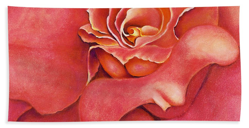 Rose.bloom Beach Towel featuring the painting Pink Blush by Jordana Sands