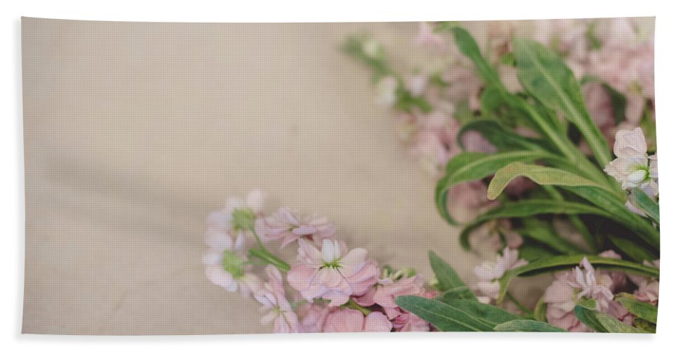 Floral Beach Towel featuring the photograph Pink Bunches by Sharyn Sakimoto