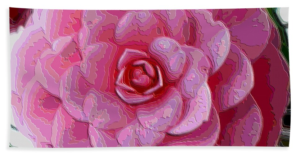 Pink Flower Beach Towel featuring the photograph Pink Camellia Dream by Carol Groenen