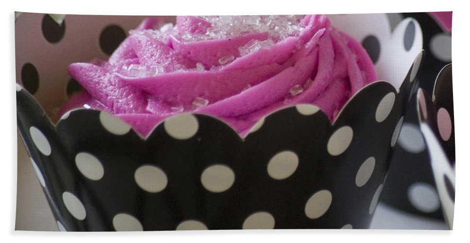 Pink Beach Towel featuring the photograph Pink Cupcake by Jim And Emily Bush