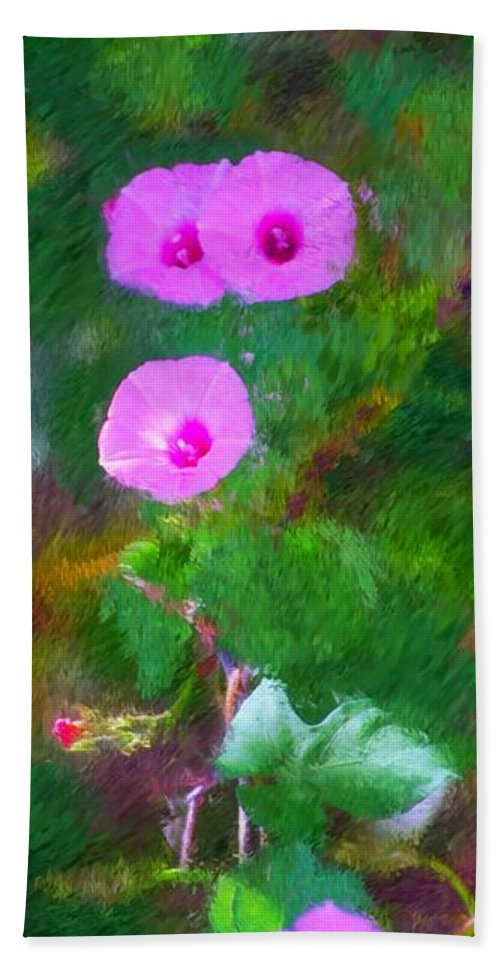 Floral Beach Towel featuring the photograph Pink Flowers 102310 by David Lane