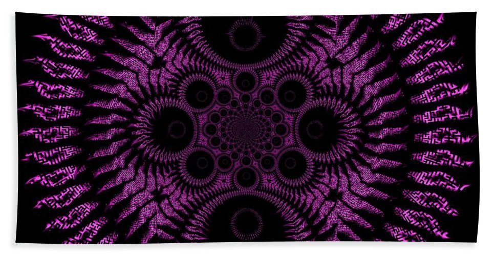 Spiral Beach Towel featuring the digital art Pink Madness by Charleen Treasures