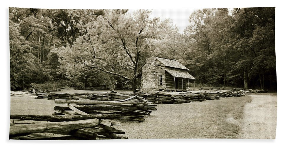Cabin Beach Towel featuring the photograph Pioneers Cabin by Scott Pellegrin
