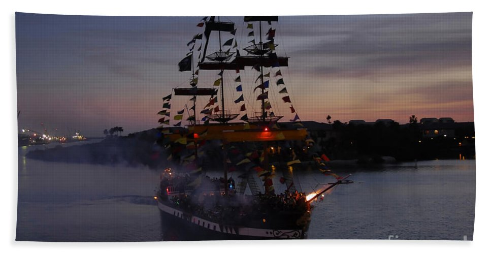 Pirates Beach Towel featuring the photograph Pirate Invasion by David Lee Thompson