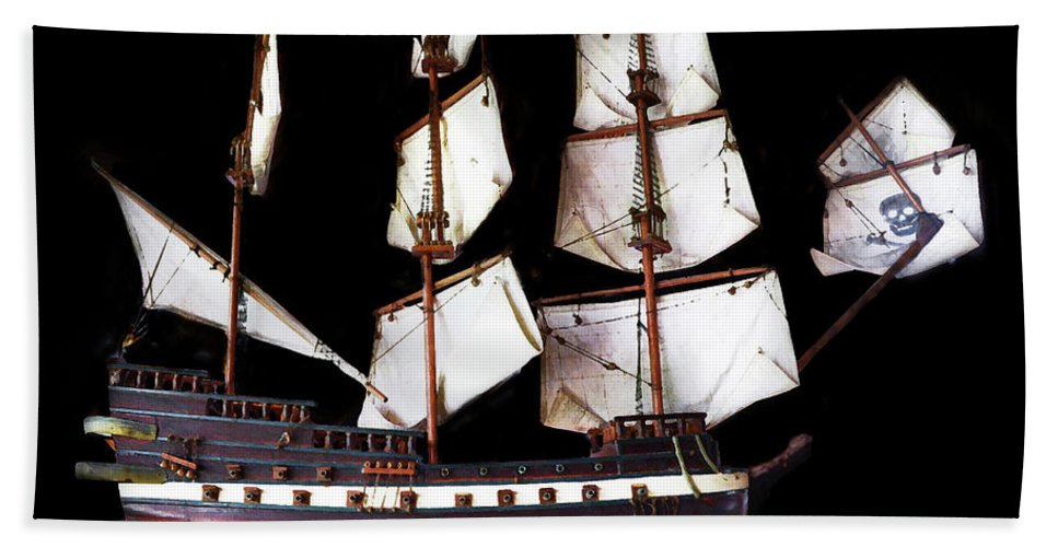 Pirate Ship Beach Towel featuring the photograph Pirate Ship by Coleman Mattingly