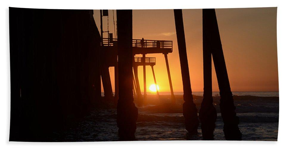 Pismo Beach Towel featuring the photograph Pismo Beach Pier California 5 by Bob Christopher