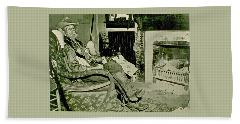 Cowboy Beach Towel featuring the photograph Pistol Bill by Gwyn Newcombe