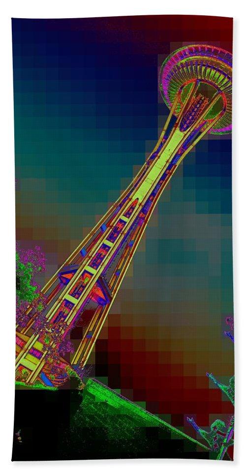 Seattle Beach Sheet featuring the photograph Pixel Needle by Tim Allen