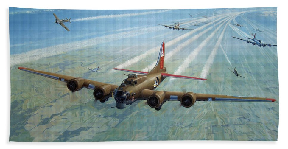 Beach Towel featuring the painting Plane by Test
