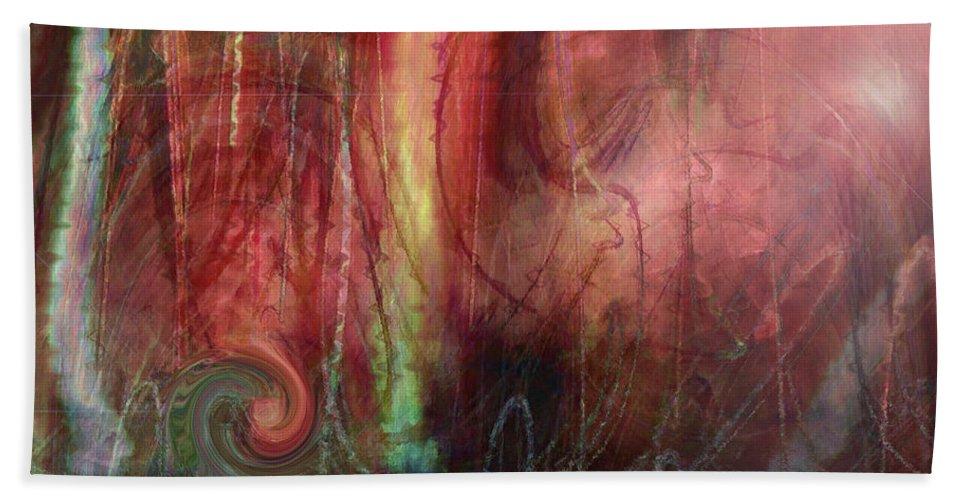 Digital Art Beach Towel featuring the digital art Planet Dance by Linda Sannuti
