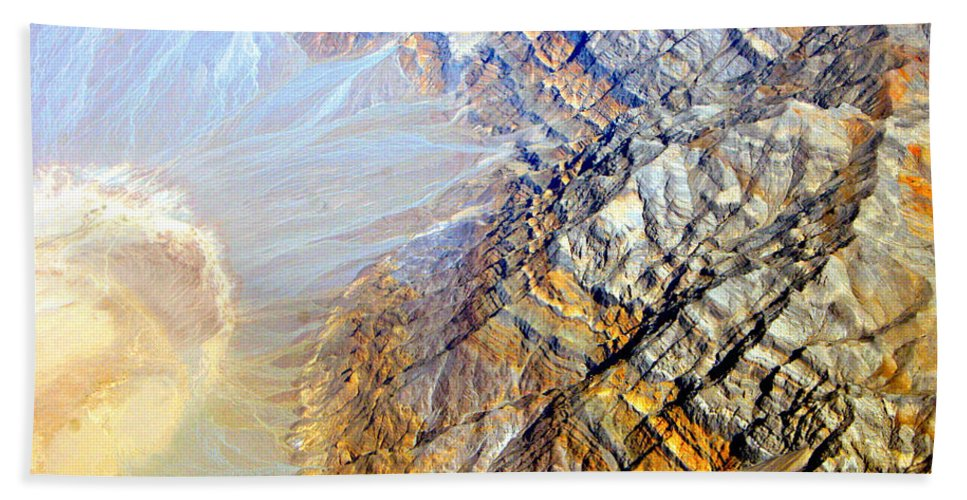 Aerial Beach Towel featuring the photograph Planet Earth Eight by James BO Insogna
