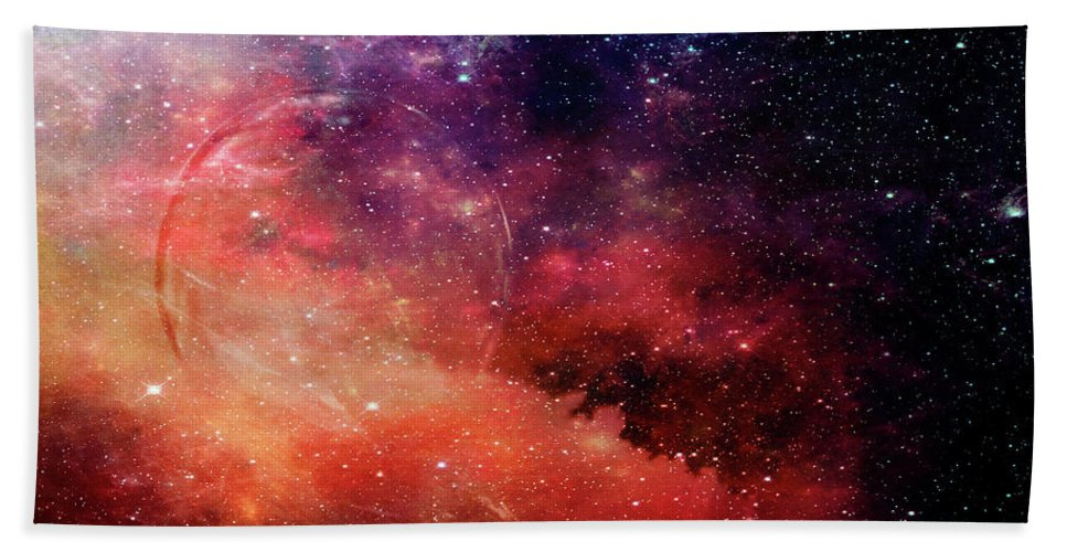 Planet Beach Towel featuring the photograph Planetary Soul Violet by Christina VanGinkel