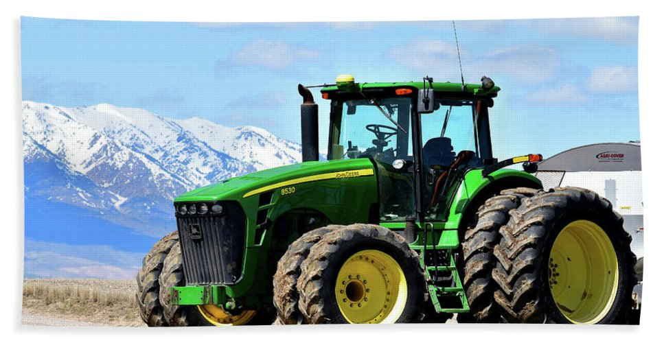 Farming Beach Towel featuring the photograph Planting Time by Michael Morse