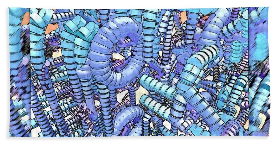 Modern Beach Towel featuring the digital art Plastique by Douglas Barnard