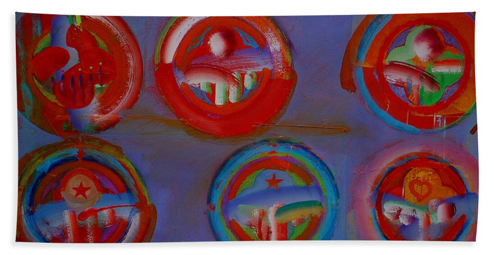 Logo Beach Towel featuring the painting Plate State by Charles Stuart