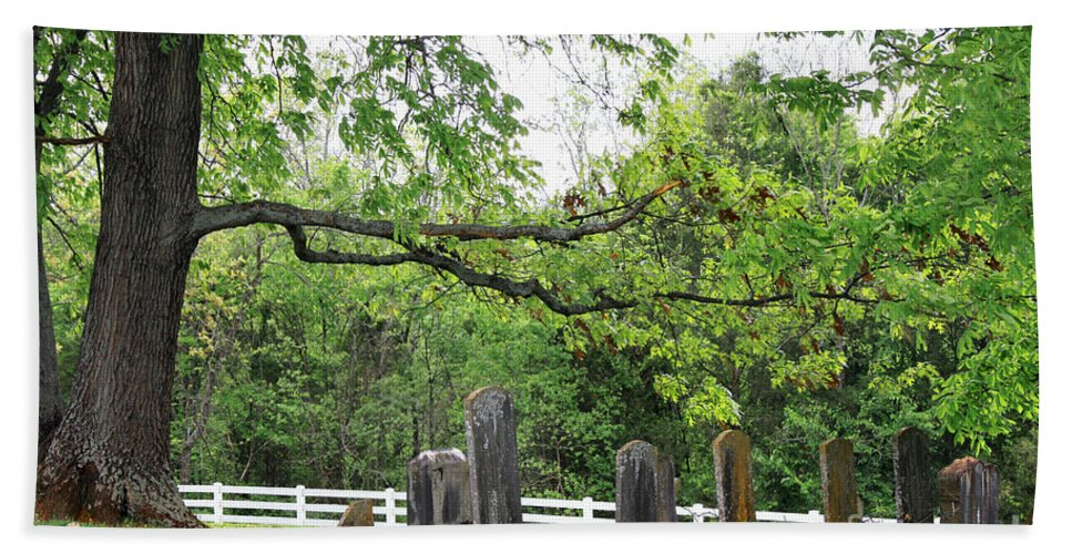 Landscape Beach Towel featuring the photograph Pleasant Forest Cemetery by Todd Blanchard