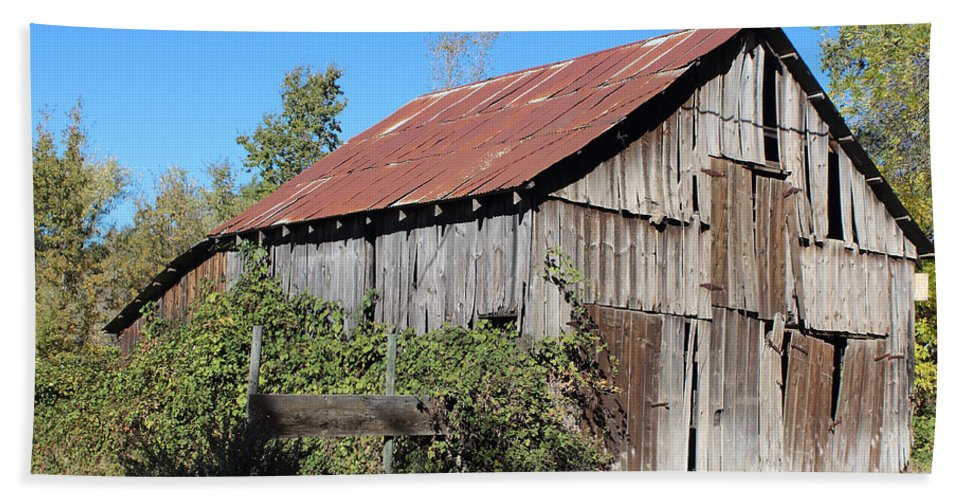 Fire Beach Towel featuring the photograph Pleasant Valley Barn 6 by Lydia Miller