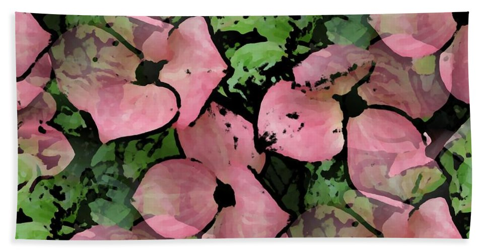 Pink Beach Towel featuring the digital art Pleasantly Pink by Tim Allen