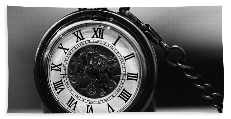 9340fff6d Pocket Watch - Black And White Beach Towel for Sale by Joseph Skompski